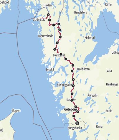 Karte / Auf dem Bohusleden von Blåvättnerna nach Strömstad