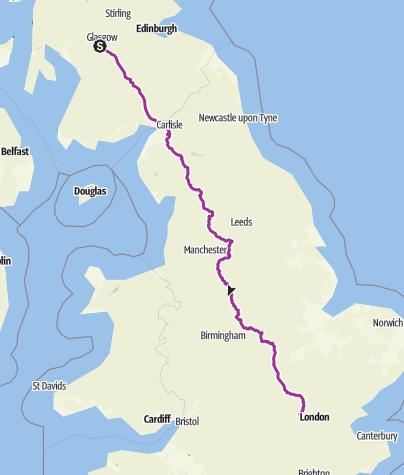 Map / Glasgow-London