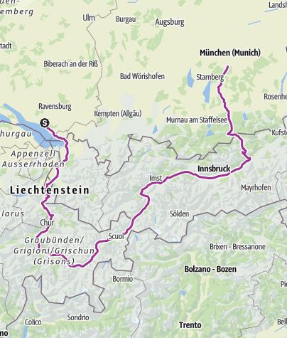 Map / fridrichafen-munich 540 alps
