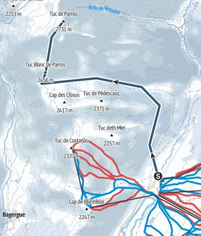 Mappa / Tuc de Parros, Bacqueira