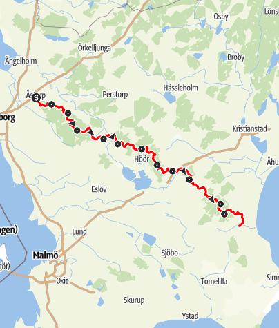 Map / Skåneleden - Ås till Åsleden – Gesamtroute