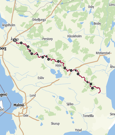 Karte / Skåneleden - Ås till Åsleden – Gesamtroute