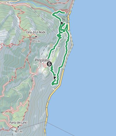 Map / Percorso alpinistico Massimiliano Torti (Strade degli Banditi)