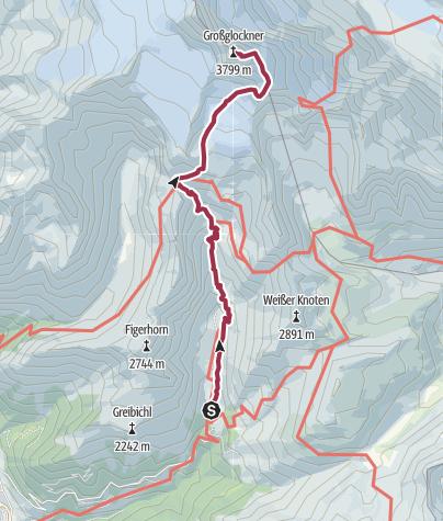 Térkép / Grossglockner 2017