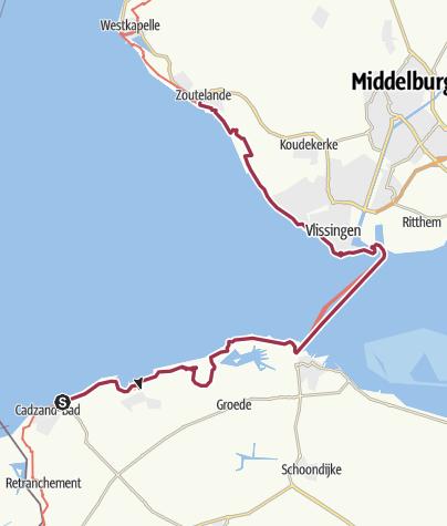 Map / Kustpad Cadzand-Bad - Zoutelande