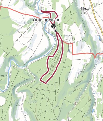Map / le sentier des roches