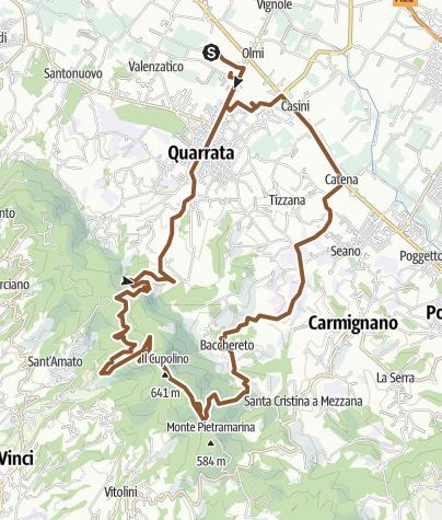 Map / crinale montalbano