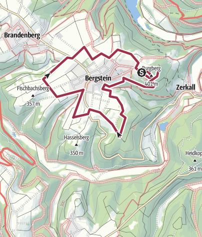 Map / Panoramaweg Bergstein (Region Kleinhau/Hürtgen)