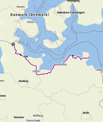 Map / D Flensburg - Mukran(Rügen)