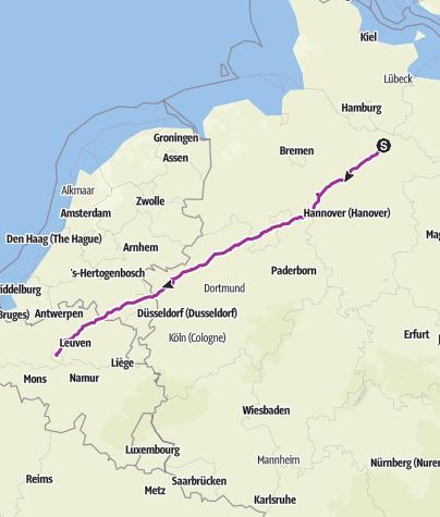 Map / Lüneburg - Bruxelles