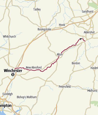 Map / St Swithun's Way