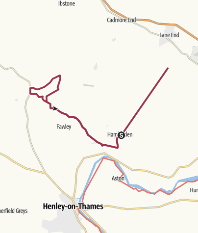 Map / Hambleden to Stonor and back