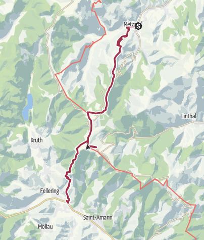 Karte / Über die Bergwiesen der Südvogesen