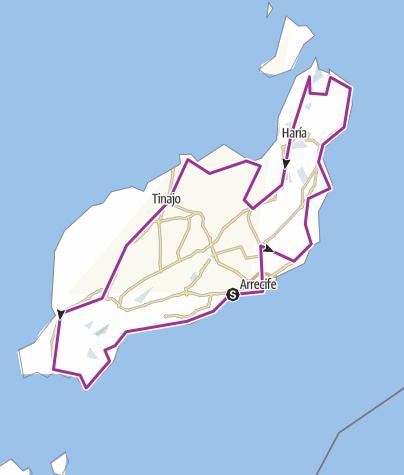 Carte / Tour de Lanzarote à vélo