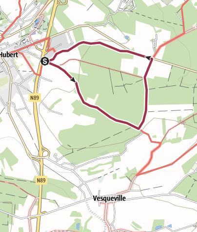 Map / Vesqueville-Hurtebise