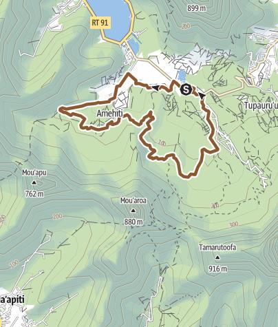 Map / Toa nui Moorea