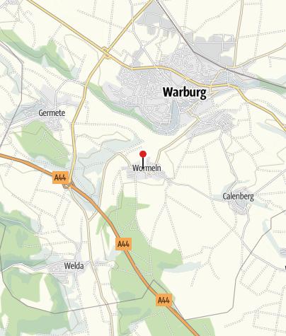 Karte / Ehemaliges Zisterzienserinnenkloster Wormeln