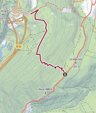 Mapa / Pian dea Pita - Gaviol