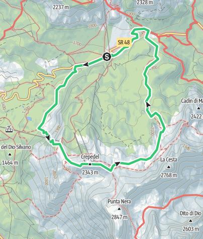 Map / Rio Gere - Passo Tre Croci