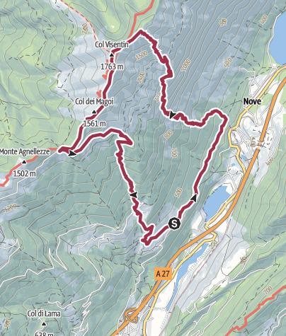 Map / Croda Rossa - Col Visentin