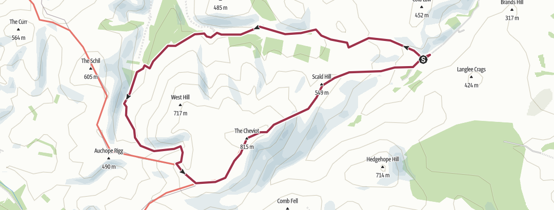 Mappa / Northern Hills 29/07/17 Cheviot via the Hen Hole