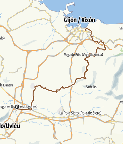 Map / Lugones Gijón