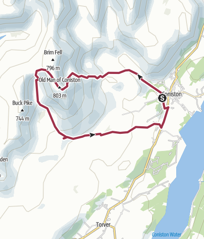 Map / Old Man of Coniston