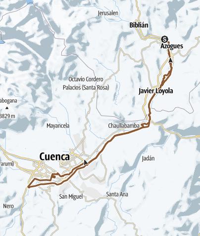 Map / Azogues - Cuenca - Azogues