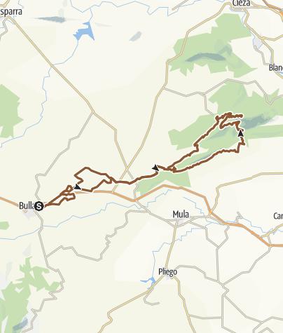 Map / Ruta sierra de ricote.