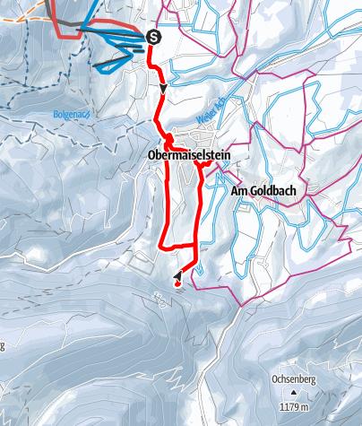 Karte / Winterwanderung von Bolsterlang zur Sturmannshöhle in Obermaiselstein