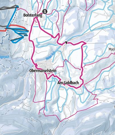 Karte / Winterwanderung - Rundtour von Bolsterlang über Obermaiselstein