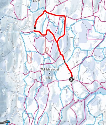 Karte / Winterspaziergang - Beste Aussichten zwischen Untermühlegg und Muderbolz