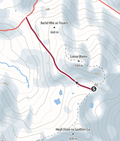 Map / Escape from M Buidhe & L Bheinn