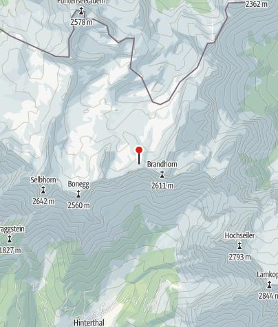 מפה / Wildalmkirchl-Biwak