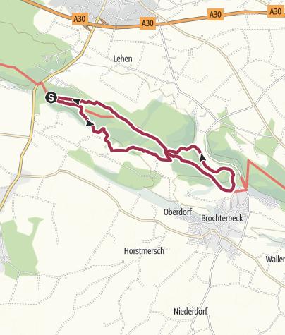 Karte / Hermannshöhen Tourentipp 03: Teutoschleife Dörenther Klippen