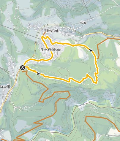Map / Flimserwald Rundtour