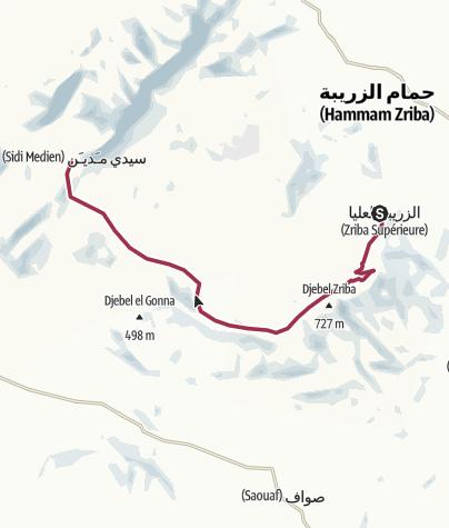 Carte / Rando: Zriba Alia - Sidi Medien