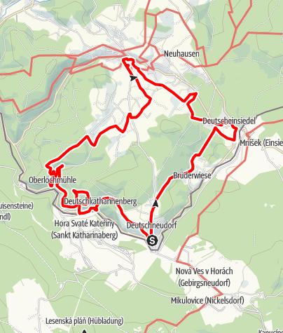 Karte / Erster deutscher Glockenwanderweg (Deutschneudorf und Seiffen)