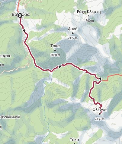 Térkép / Vovousa-Lakes Flega-Summit