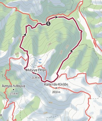 Térkép / Valia Calda - Flega Loop