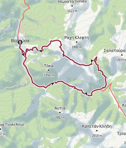 Karte / Vovousa-Avgo-Valia Calda-Vovousa