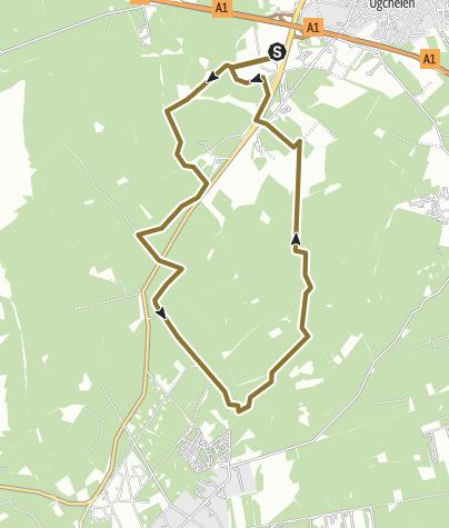 Map / 14 km Cantharel leesten dig