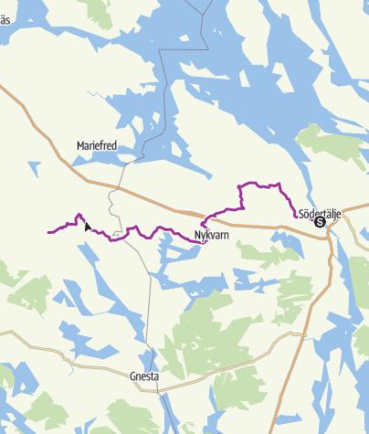 Map / LPG Södertälje Centrum --> Skottvångs Gruva