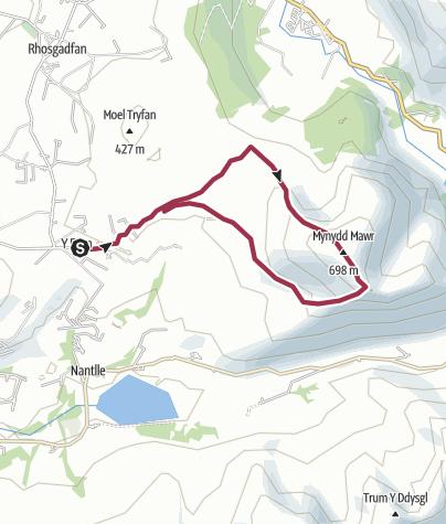 Map / Mynydd Mawr 15 Feb 16