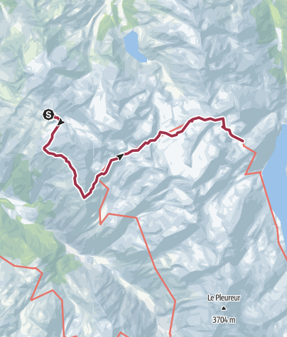 Kart / Haute Route Day6 Cab du Mont Fort to Cab Prafleuri
