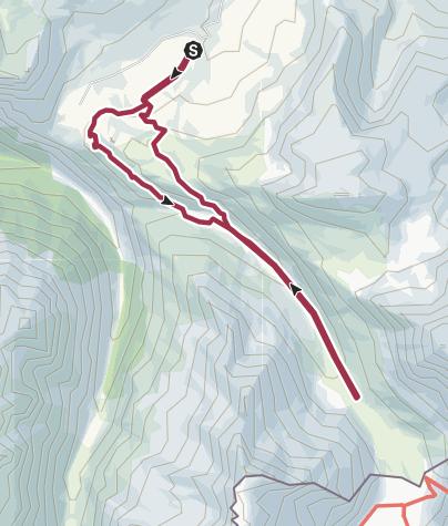 Mappa / Lago Savine (2447 Mt.) - Rif. Piccolo Moncenisio