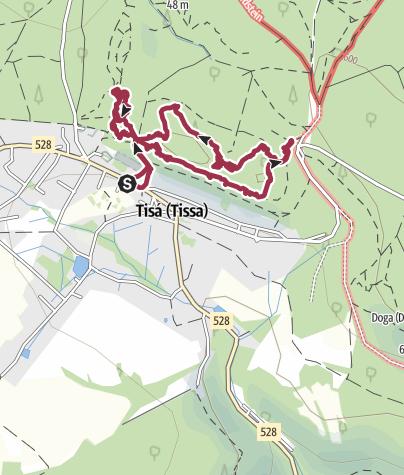 Karte / Böhmische Schweiz - Tyssaer (Tissaer) Wände