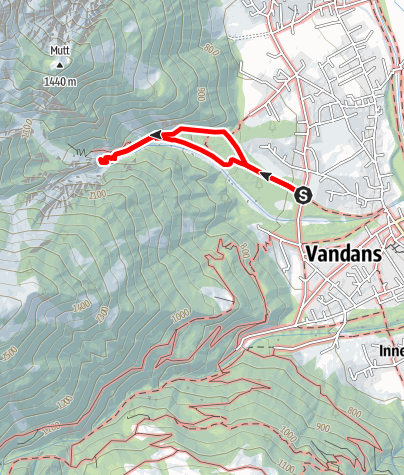 Karte / Ruine Valkastiel