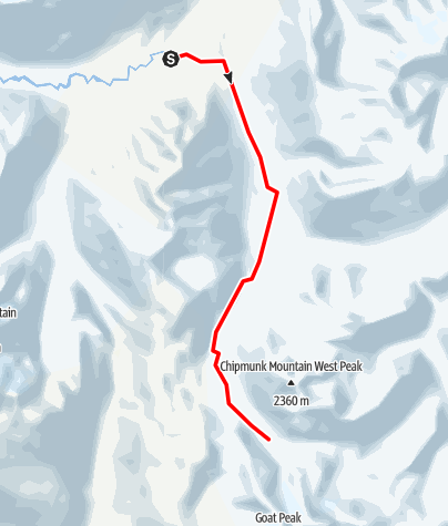 Map / Hope Creek FSR to Opal Lake