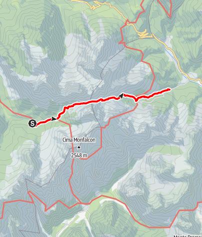 Map / Wanderrunde Friulanische Dolomiten - Etappe 4: Rifugio Padova - Rifugio Giaf